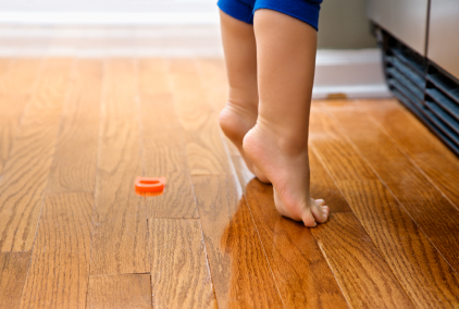 child hardwood floor