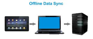 survey data offline sync