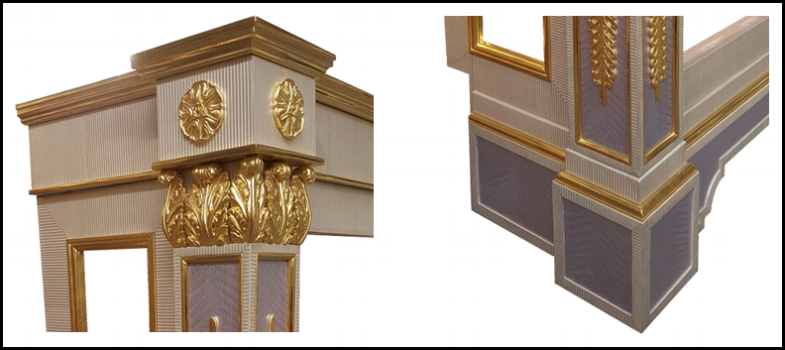 Finished gilding and decoration
