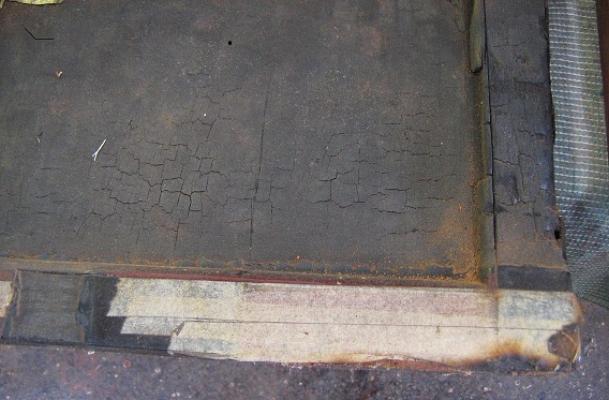 Rear of door