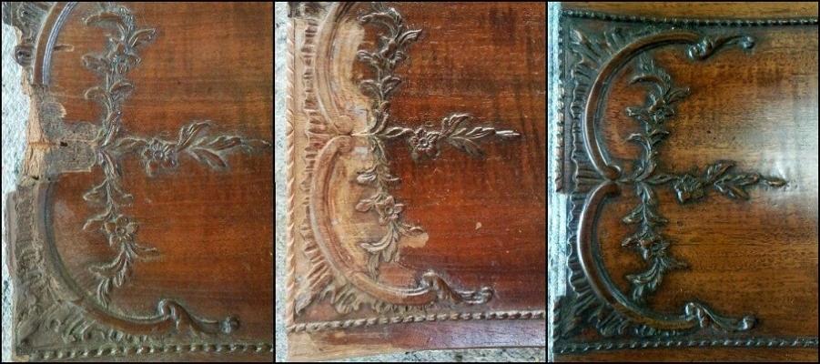 Mahogany drawer