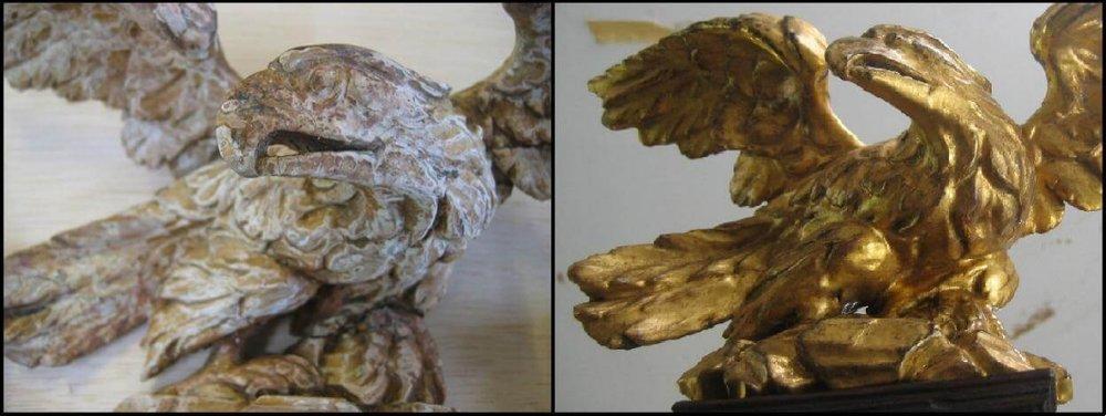 carved gilt eagle