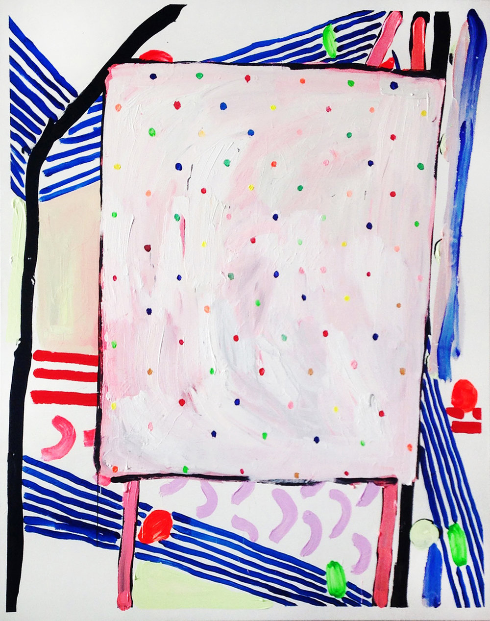 Abstract 1 (pink and dots)