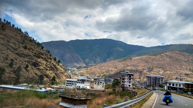 Entering Thimpu