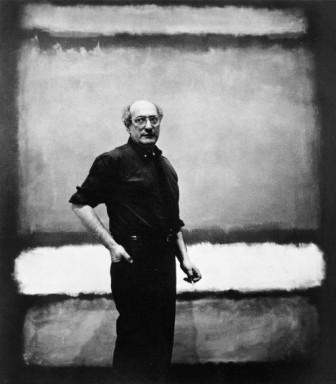 Mark Rothko in front of one his paintings