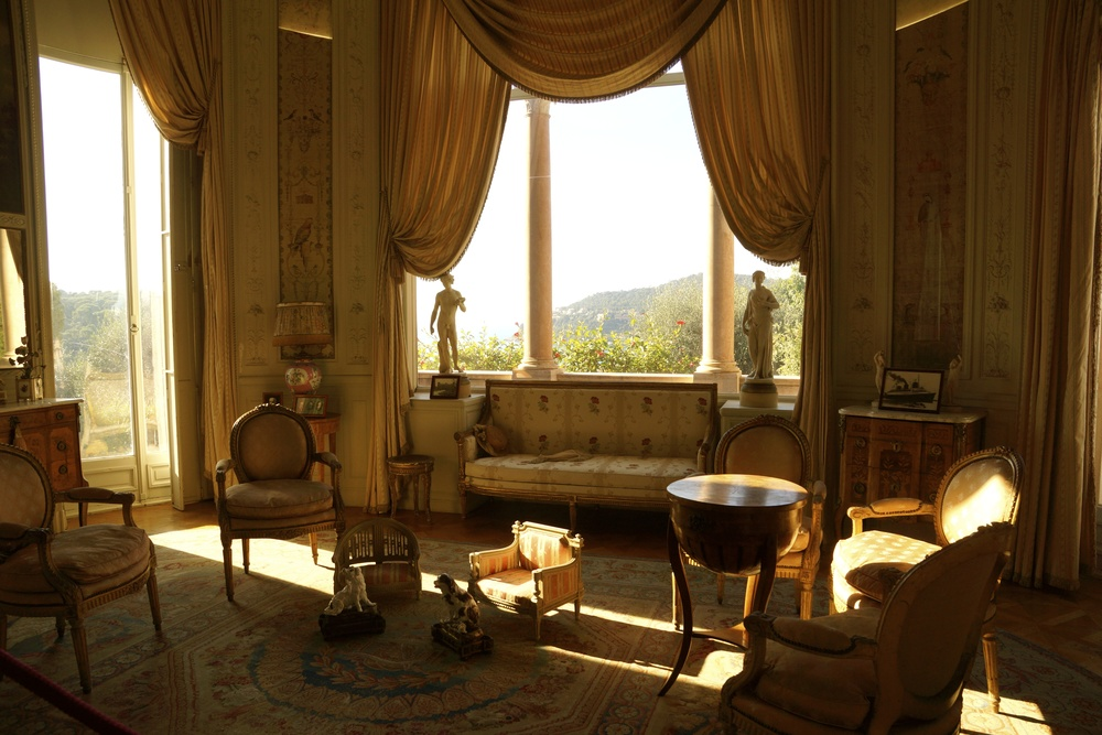 Inside the Baroness' sitting room