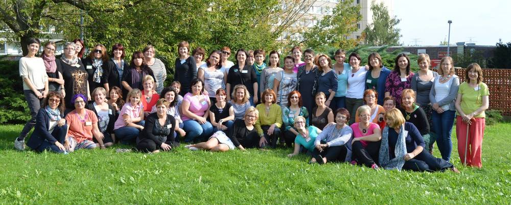 Here I am with lovely fellow teachers and students in Prague