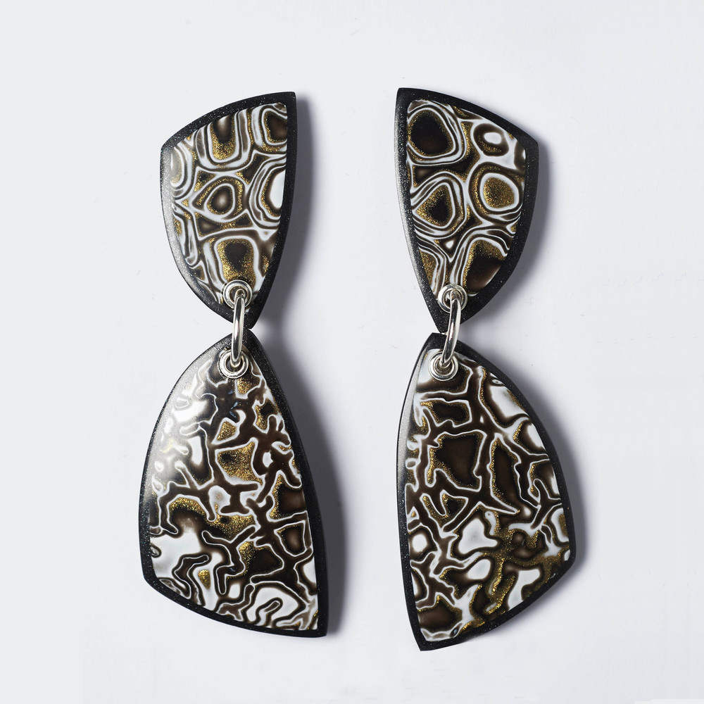 Melanie Muir Bronze Mono Curve Earrings.jpg