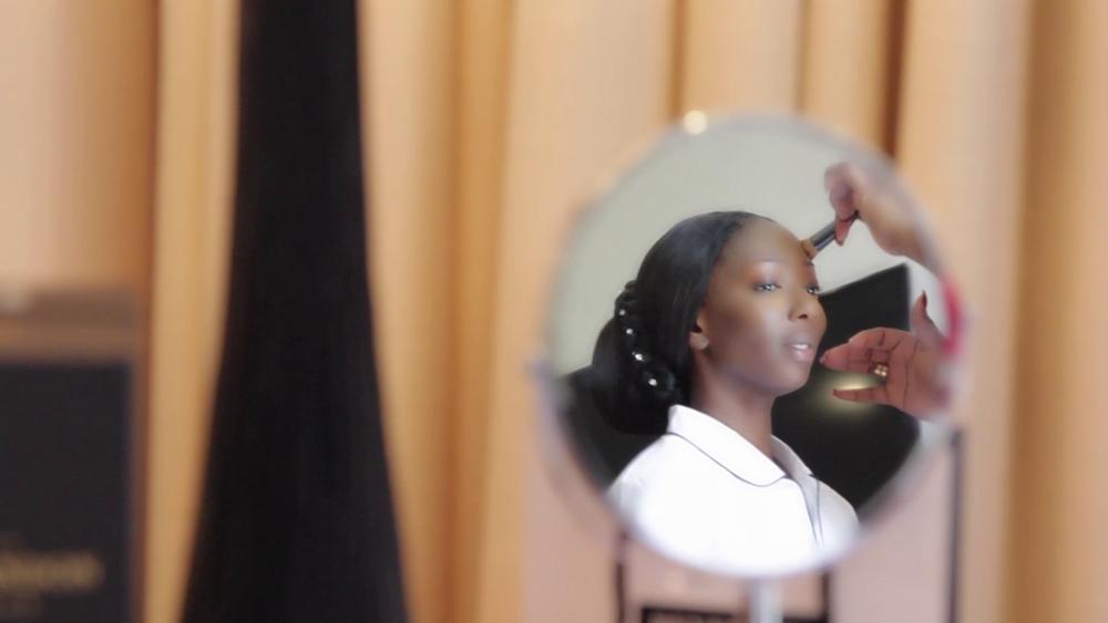 Wedding Videography Still - The bride prepares ...