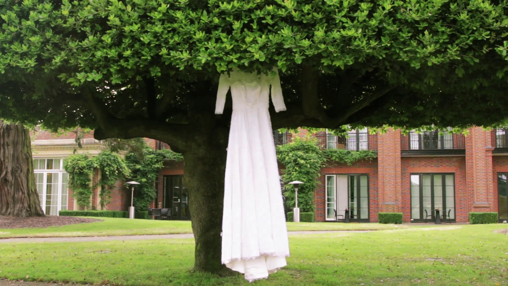 Wedding Videography Still - The wedding dress