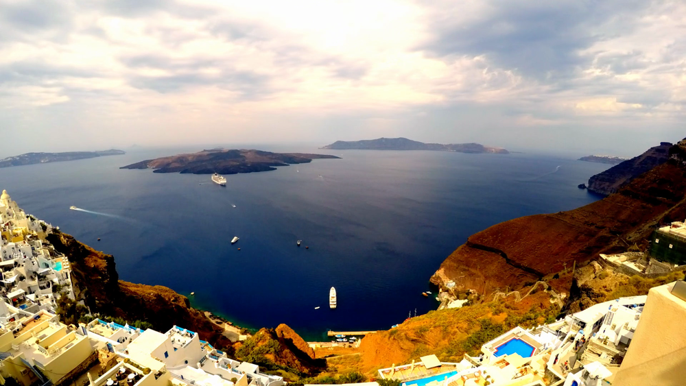 Wedding Videography Santorini - Santorini Venue View