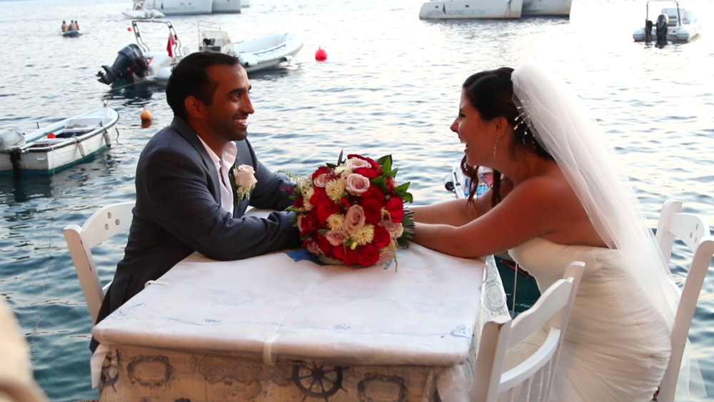 wedding Videography - Santorini Romantic Dinner