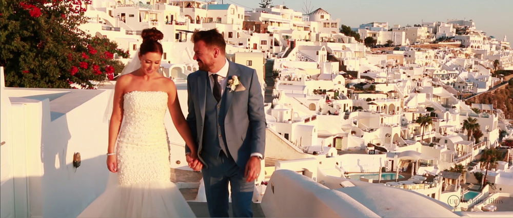 Wedding Videography Still - Santorini Houses