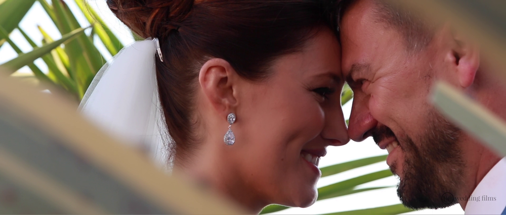 Wedding Videography Still - Santorini Happy Couple