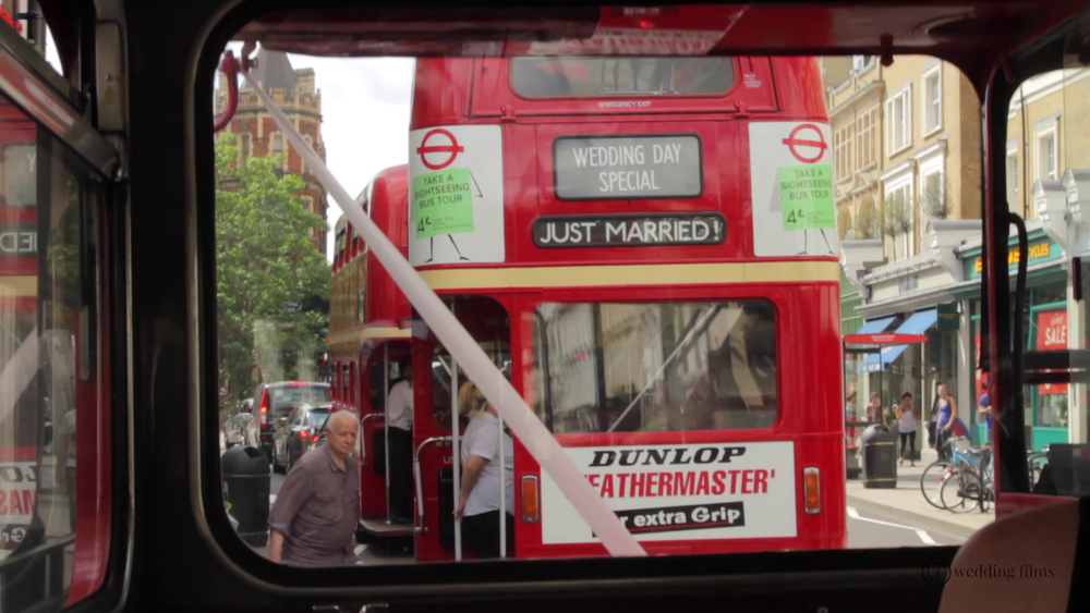 Surrey Wedding Videography -Wedding Route Master Bus