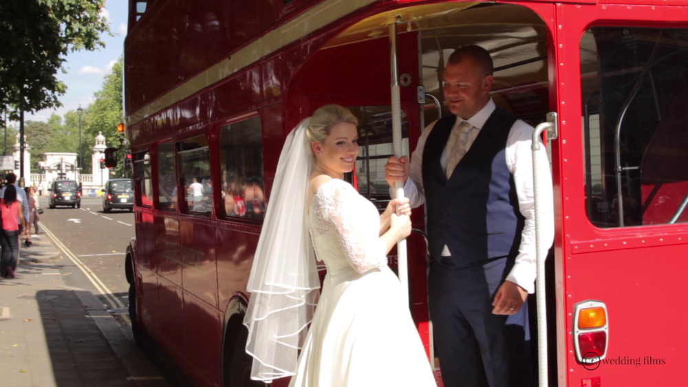 Surrey Wedding Videography - Wedding Route Master Bus