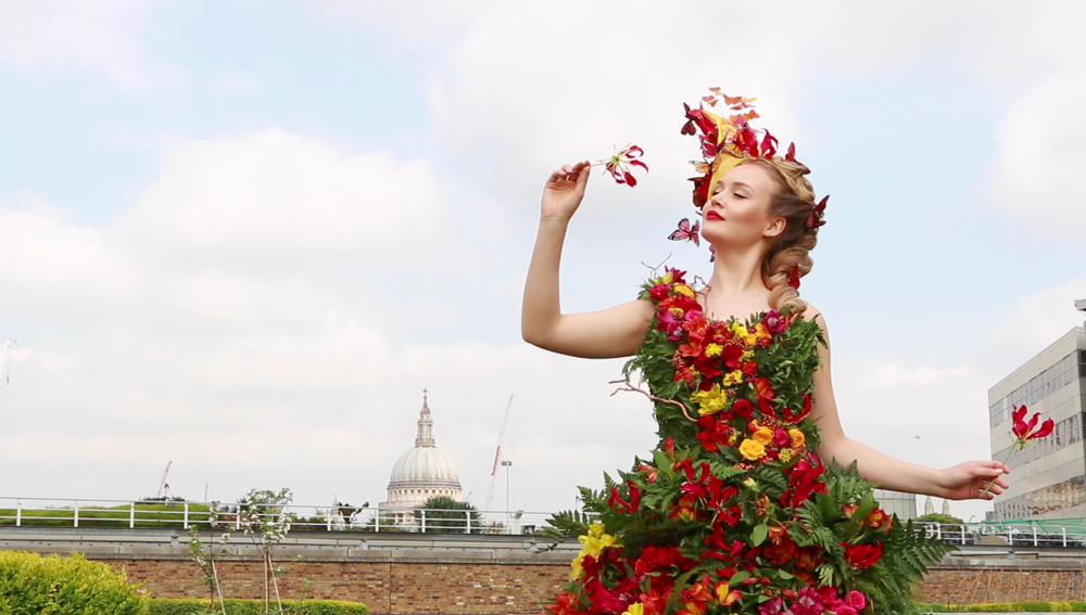 Chelsea Flower Show Floral Dress