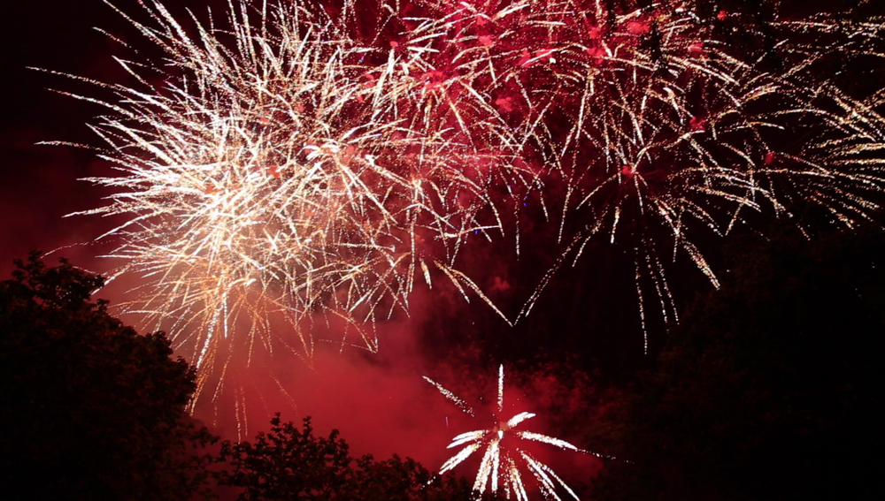 Wedding Fireworks Hampton Court House Wedding Videographer