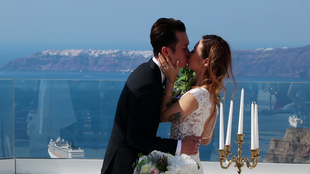 Santorini Wedding Videography Santo wines