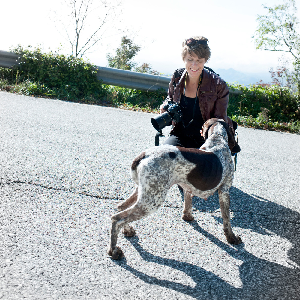 Oktober 2014. Vi är på det höga berget Nerone i Marche, Italien och plåtar och letar tryffel för fullt. Det går över förväntan med den proffsiga hunden Cila som nosar upp bumlingar av vit tryffel vi sedan hyvlar över maten. Se repet  här .