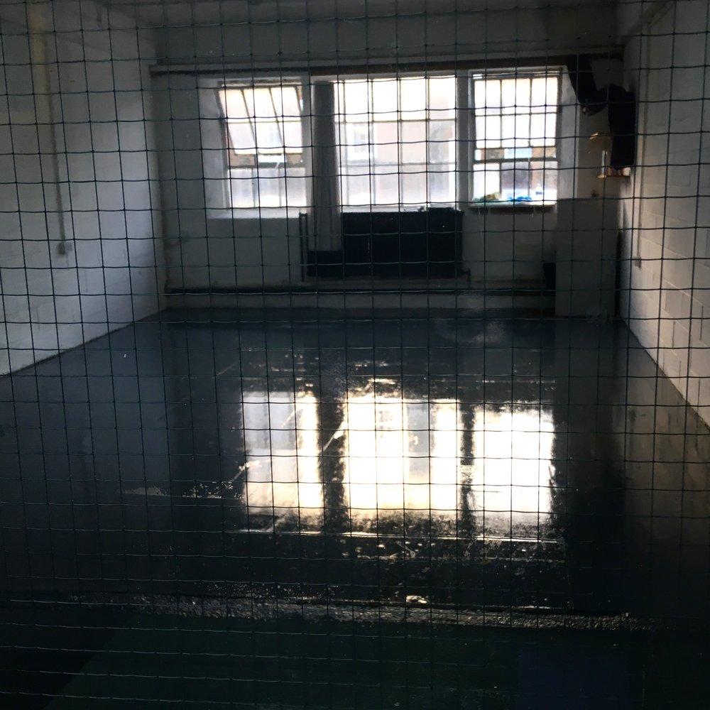 New studio… - Ok, photo taken through the window makes it look a little like i'll be behind bars but the floor is freshly painted here and my work bench will be by the window.Can't wait to get started properly in E2R Cockpit Arts and see what evolves throughout 2019.Location