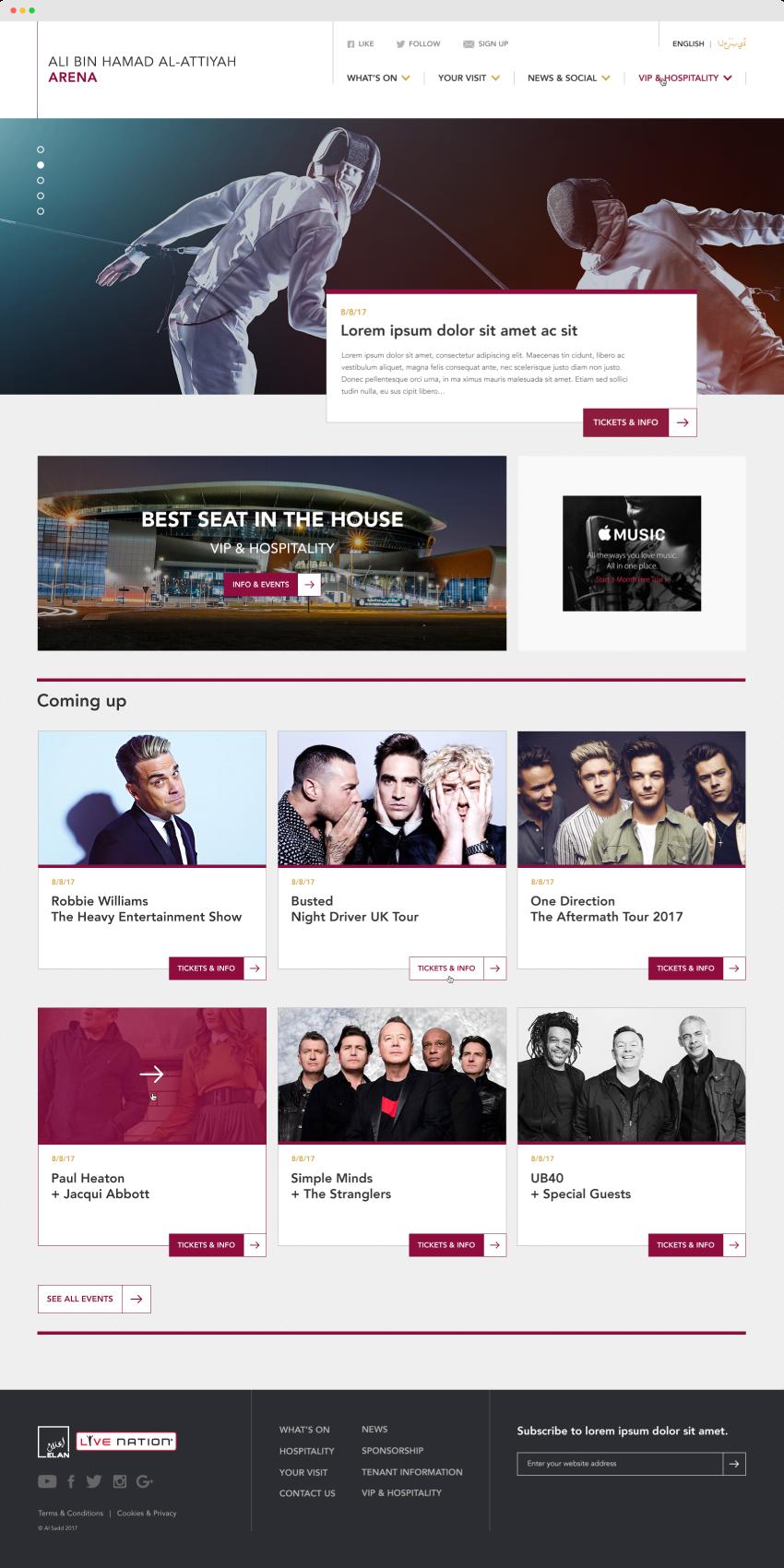 live nation various websites mark foster design