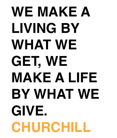 Churchill Quote_Model4greenliving_Giving Back