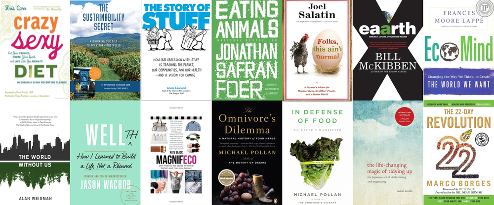 Top books on sustainable healthy living