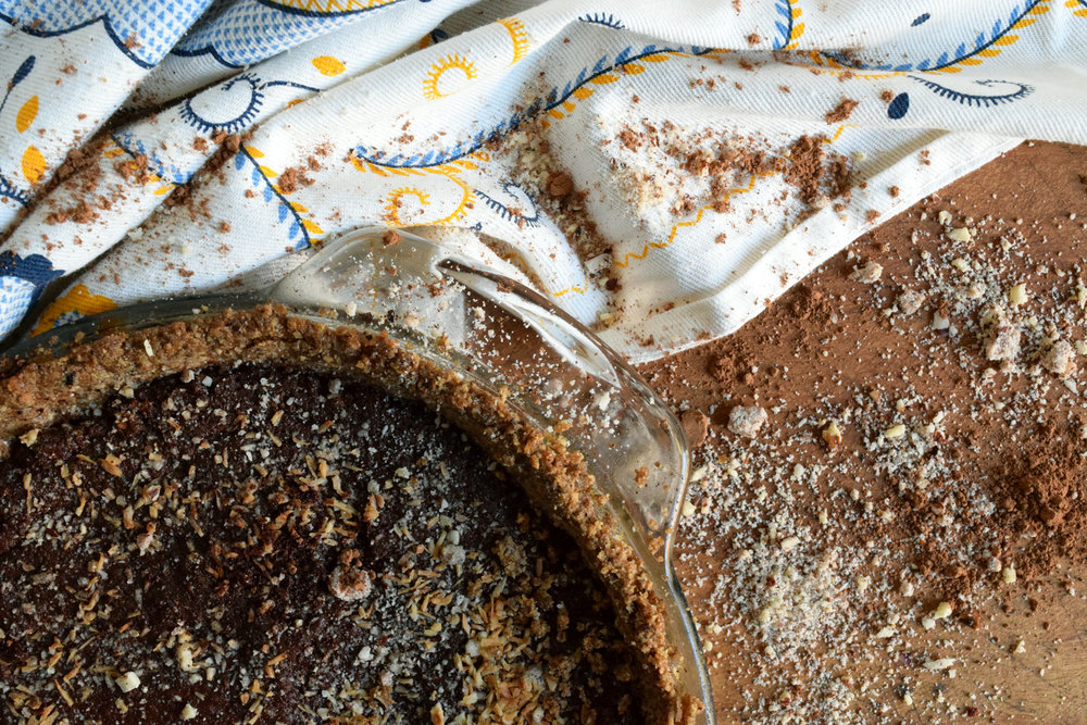 close up finished chocolate hazelnut vegan torte.jpg