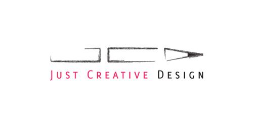JUST CREATIVE DESIGN : قلم الرصاص لوحده أيقونه مشهوره للتعبير عن الرسام أو المصمم، لكن استخدام هذه الأيقونة بشكل ابداعي و فريد فأن شعارك سيكون أكثر سهوله للتذكر. القوا نظرة على هذا الشعار هل لاحظتم الأحرف المخفية J,C,D ؟