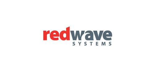 REDWAVE SYSTEMS :لاحظوا شكل الموجه المخفي في هذا الشعار. وكمثال على تنظيف الملف، شكل الموجه هذا يجب أن يُقتص من الحرفين W و A بدلا من تركه شكل موجه أبيض فوق الحرفين.