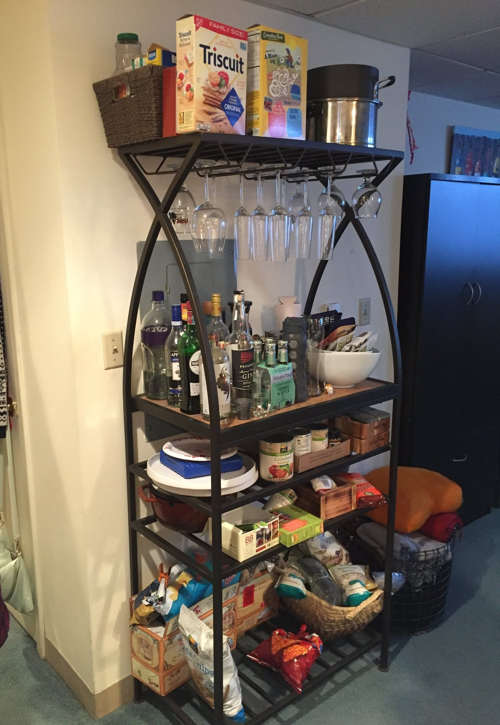 wine bar rack