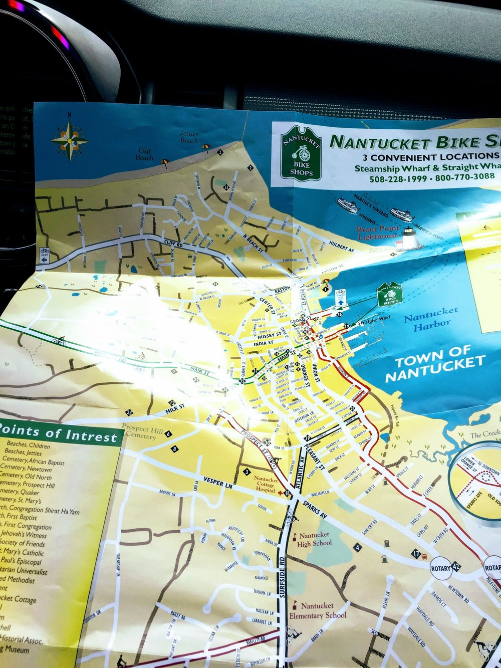 Nantucket Bike Map