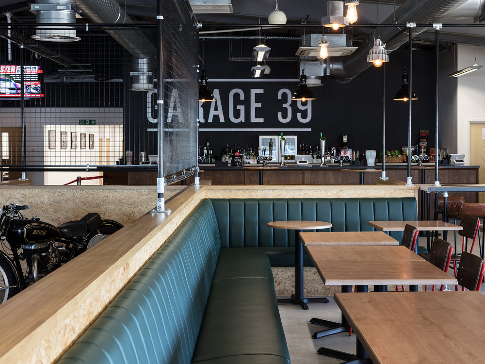 booth seating restaurant design Garage39 - KKD