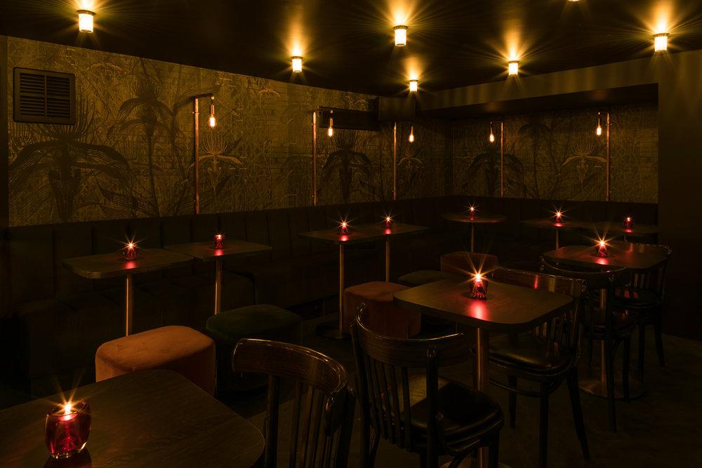 Heads + Tails bar interior kinnersley kent design