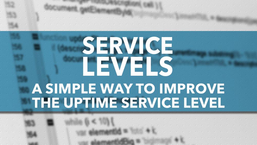 hosted software improve uptime service level