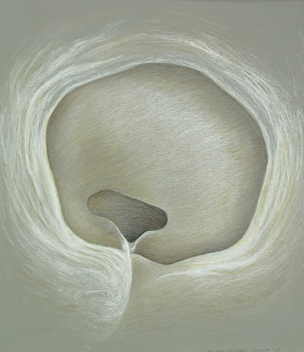 Exhale,  1997  Prismacolor on paper 16 x 14 inches