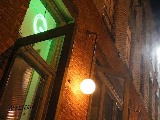 Custom Steel and Glass Exterior Light