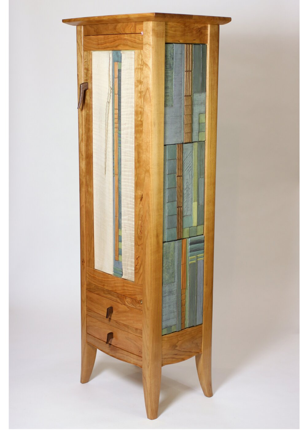 One Door Cabinet with Two Drawers
