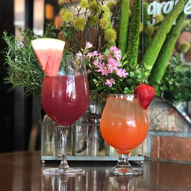 THE WAIT IS OVER!! Your favorite seasonal beverages are back at The Goat and Vine! Our famous Watermelon Sangria featuring fresh watermelon purée, squeezed citrus, vanilla infused vermouth, and rum is a guest favorite and the perfect way to summon some summertime vibes! Served by the glass or in a carafe! 🍉🍷🍉🍷🍉 If you're feeling the fizz instead try our Strawberry Fizz Punch! Packed with fresh squeezed lime juice, strawberry purée, rum, fresh mint, and finished with a splash of extra dry sparkling wine this delicious drink is the best blend of crisp, fruity, and refreshing! 🍓🍹🍓🍹🍓 #thegoatandvine #sangria #watermelon #strawberry #fizzy #punch #drinks #dranks #summerready #summertime #summervibes #oldtowntemecula #visittemecula