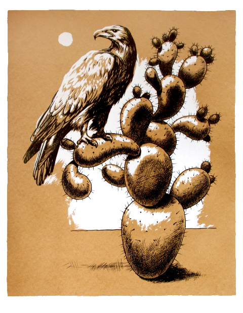 'Eagle and Cactus'