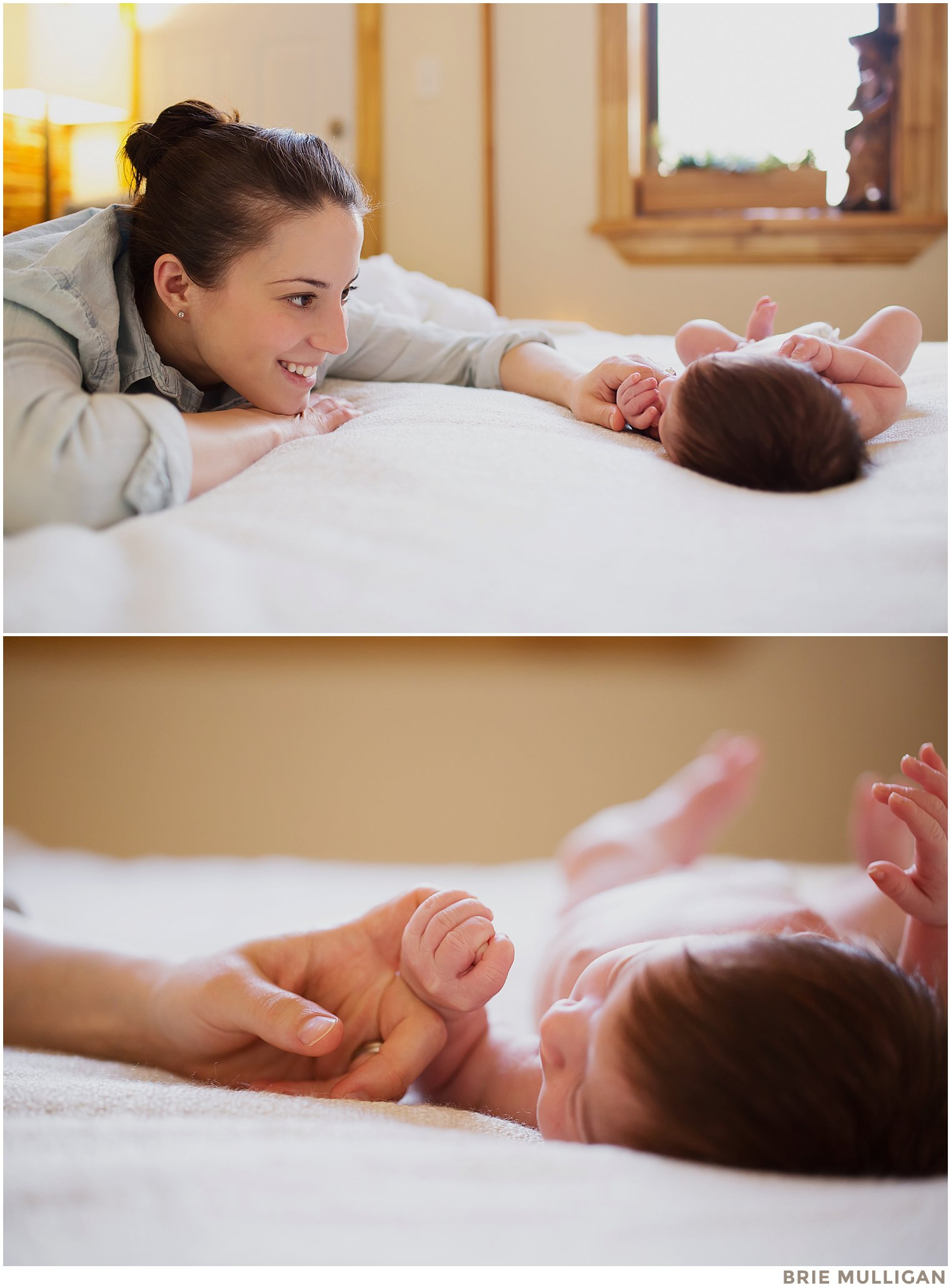 Lifestyle newborn photography in Brooklyn