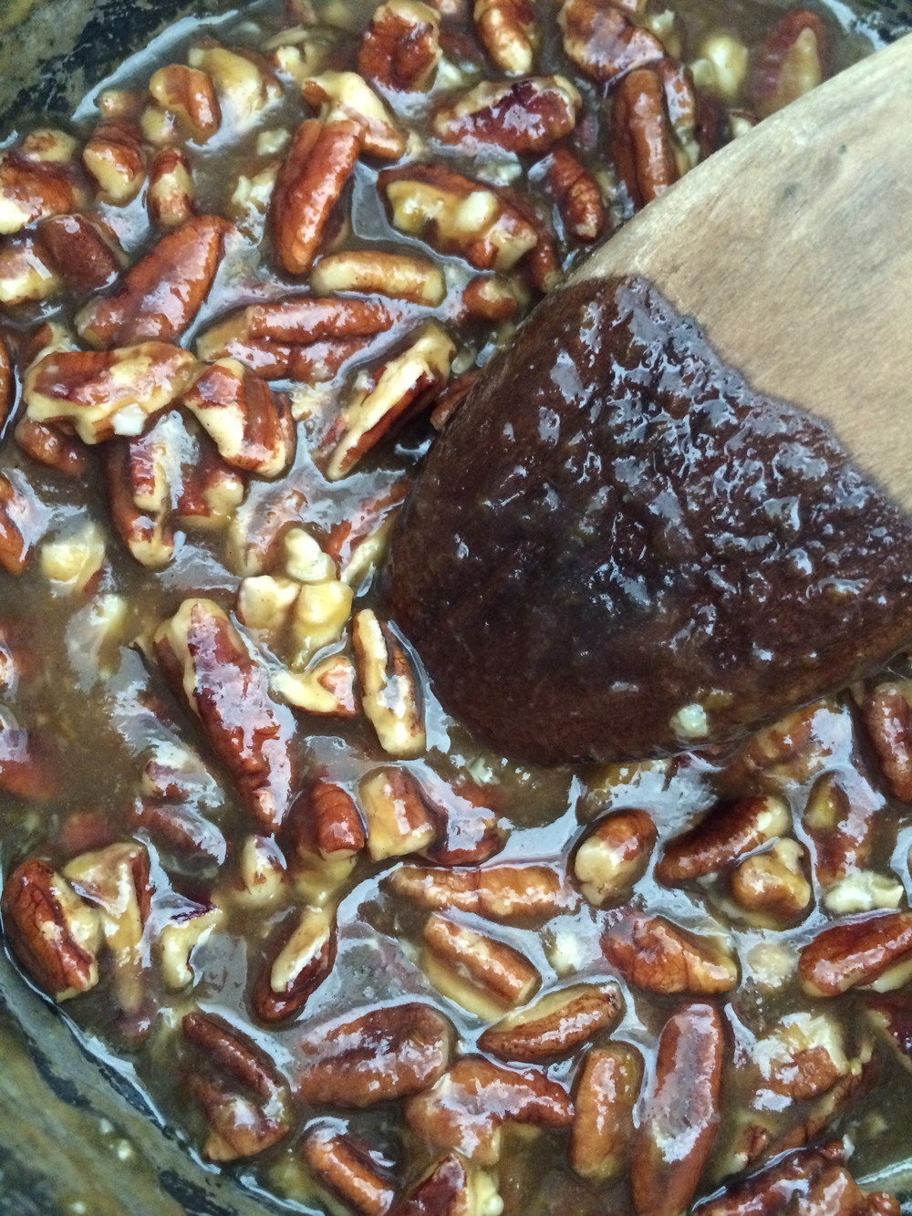 The pecan pie filling