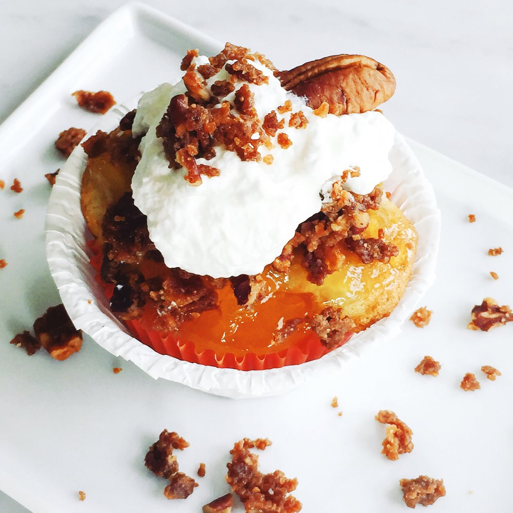 Peach cobbler in cupcake form -- how much more delicious can you get?
