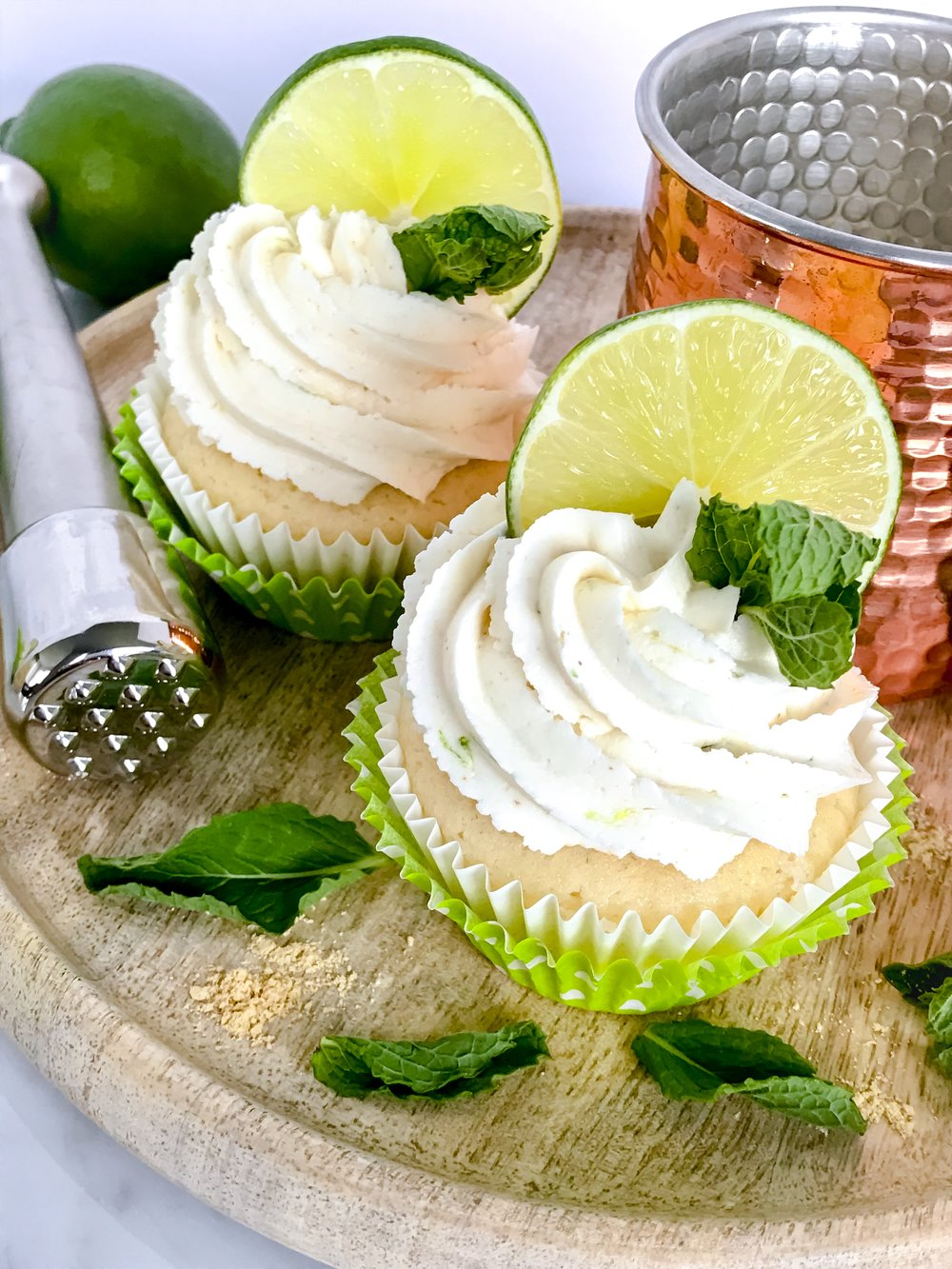 Ginger cake with ginger and lime-infused buttercream