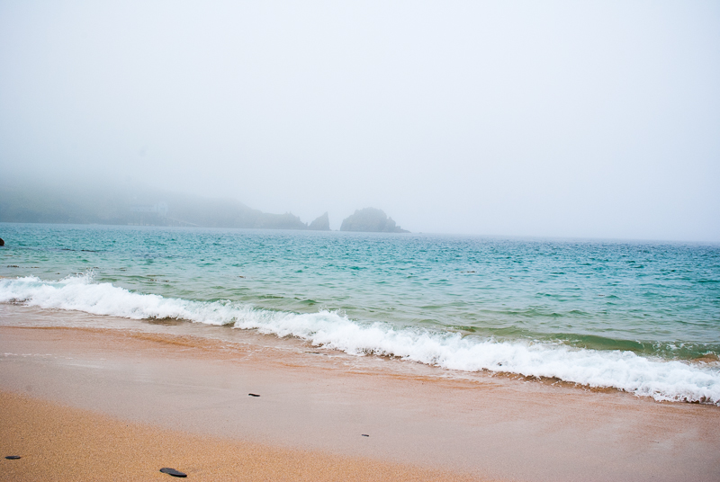 Mist rolling in over the sea in Cornwall