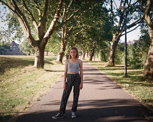 Cydney in the Park. . . . . . . . #mediumformat #mamiya7 #portra400 #filmphotography #back2thebase