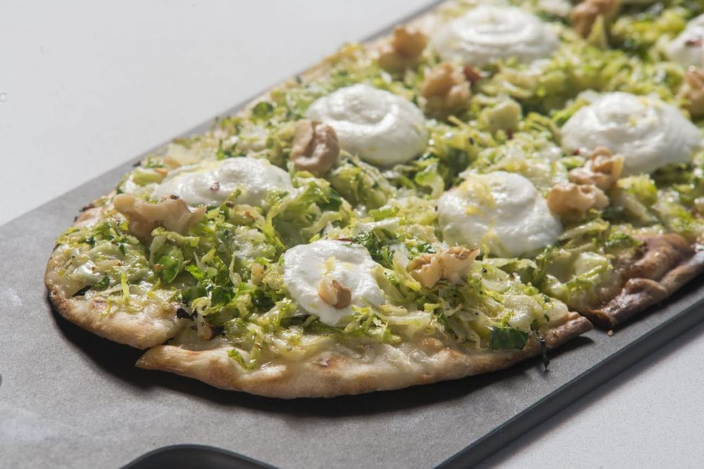 Or how about this brussel sprout pizza? The menu is ever-changing depending on the season and availability.