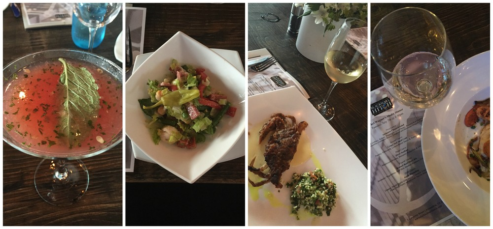 Some of the food & drinks I enjoyed. That salad & the soft-shell crab, yumm.