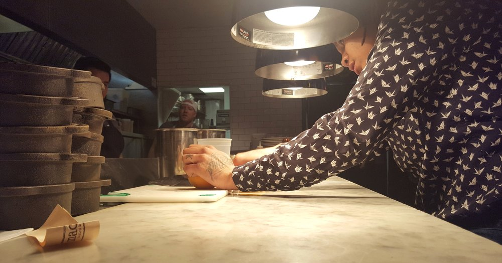 AJ takes a hands on approach to her work as the GM of Macon Bistro and Larder